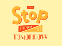 Don't Stop Typography Experiment