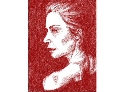 Ruth Wilson Line Portrait Experiment