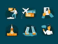 Icons for Travel Company