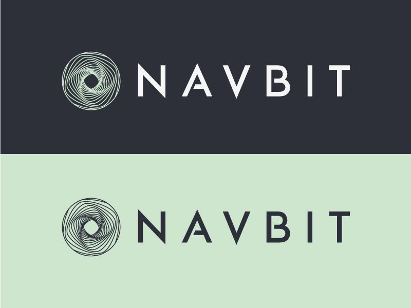 Navbit geometry letterforms custom typography corporate identity typography logo
