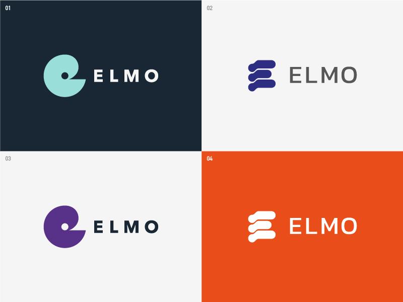 Elmo - Logo options corporate identity logo design identityleafletgraphic visualvisual brand
