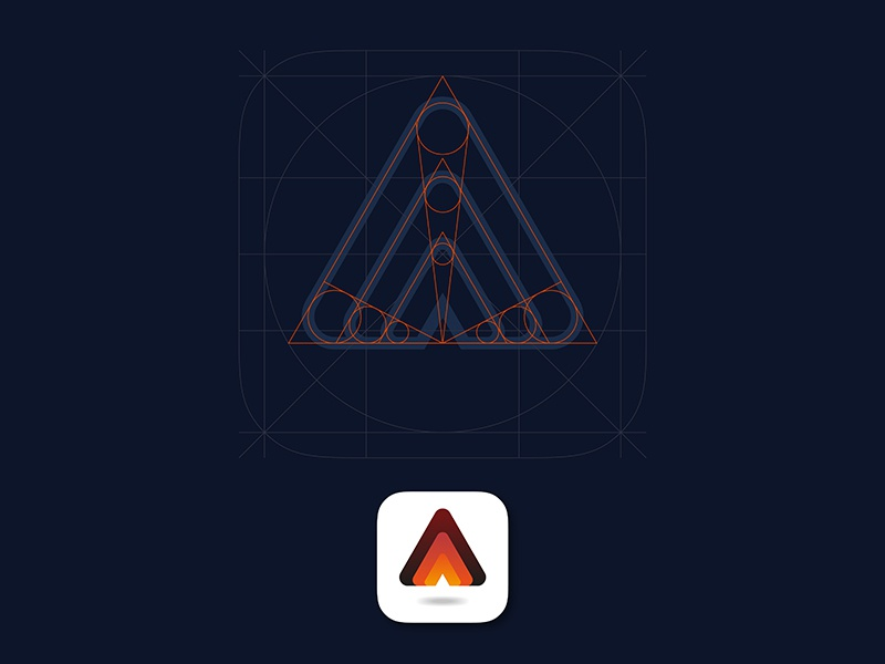Triangle Geometry geometry grid gradient icon logotype logo app