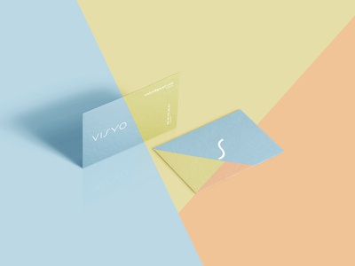 Visyo visuelle identité branding design logo visite de carte card business