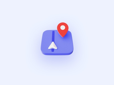 3D Icon Exploration blender3d blender appicon app minimalism simple map iconography soft cute isometric 3d art maps icons icon 3d