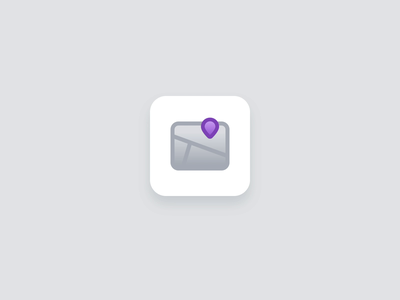 Icon Animation motion aftereffects lottiefiles interactiondesign maps map app icon gui icons vector illustration cute flat