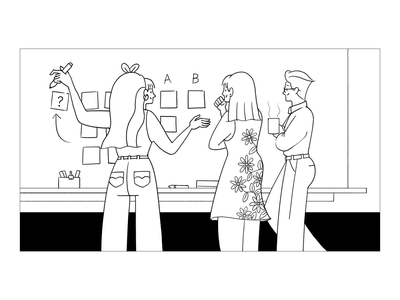 How to Work - UX research hand drawing illust illustration testing line drawing sketch uxui ux