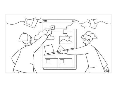 How to Work - Wire framing line uxui ux sketch hand drawing drawing testing wireframing illust illustration