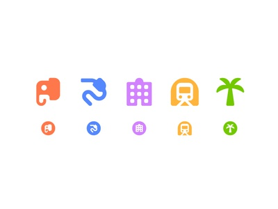 Simple icons for Map cute symbol simple pictography pictogram minimal icons iconography icon