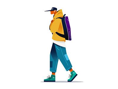FW Season #1 flat drawing vector character character design fall season boy illustrator illustration illust