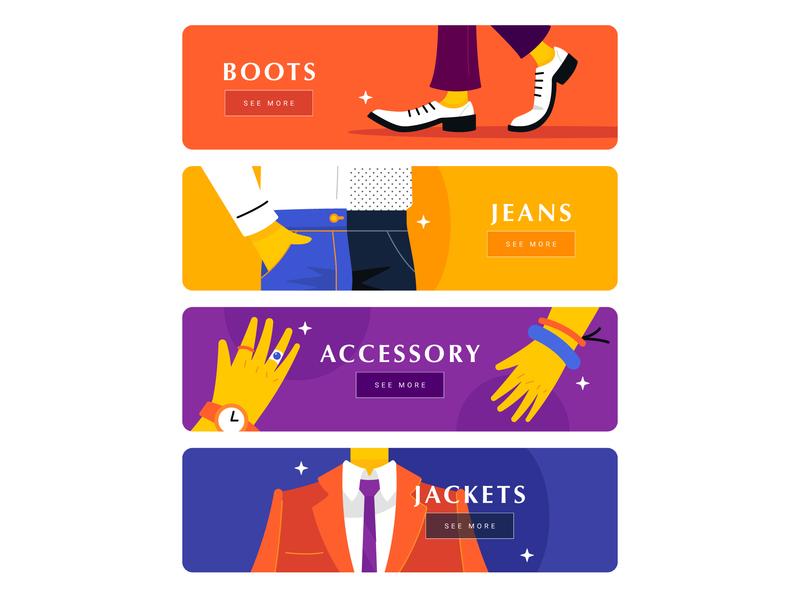 My Wishlist card components fashion gui app ui vector cute illustration illust flat