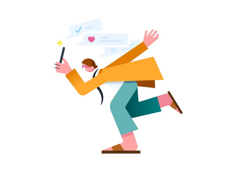 Thank you, Followers vectorart flat simple cute characters invitations vectors illust illustraion illustrator 1k