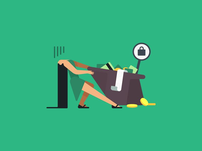Cashback woman clean cash character design character vector illustration illust cute flat