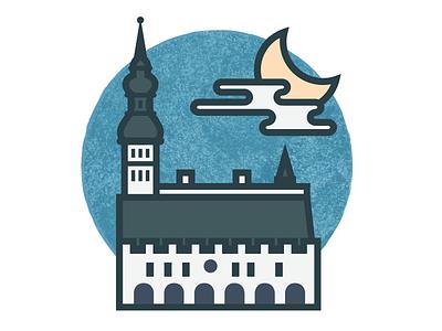 Travel Icons Series - Tallinn stroke city icon travel tallinn