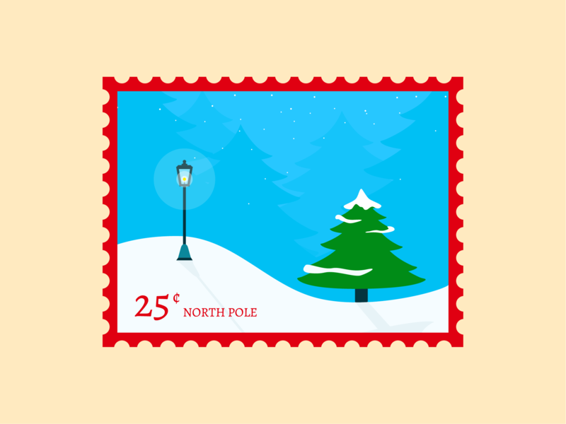 North Pole color illustrator flat vector illustration design