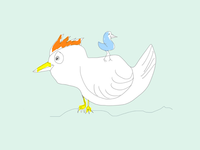 ART EVERY DAY NUMBER 376 / ILLUSTRATION / BIRD AND BIRD