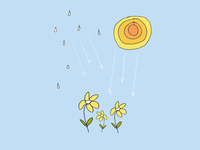 ART EVERY DAY NUMBER 388 / ILLUSTRATION / SUNSHINE RAIN