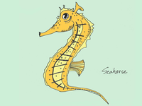 ART EVERY DAY NUMBER 393 / ILLUSTRATION / SEAHORSE