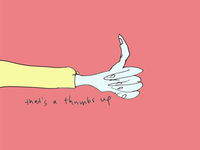 ART EVERY DAY NUMBER 396 / ILLUSTRATION / THUMBS UP