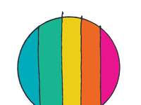 ART EVERY DAY NUMBER 398 / COLOUR CIRCLE  / AQUA GREEN 75 76
