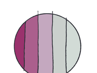 ART EVERY DAY NUMBER 399 / COLOUR CIRCLE  / PURPLE GREYS 41 94