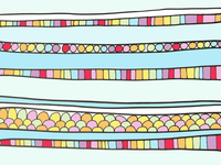 ART EVERY DAY NUMBER 434 / PATTERN + COLOUR / THE CANDY STORE