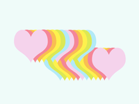 ART EVERY DAY NUMBER 445 / DIGITAL ILLUSTRATION / HEARTS ABOVE