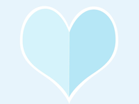 ART EVERY DAY NUMBER 447 / ILLUSTRATION / THE BIG HEART (BLUE)