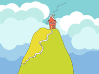 ART EVERY DAY NUMBER 463 / ILLUSTRATION / HOUSE ON A HILL