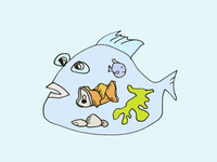 ART EVERY DAY NUMBER 468 / ILLUSTRATION  / FISH FOOD
