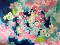 The Garden / Acrylic on Canvas /  48″ x 60″