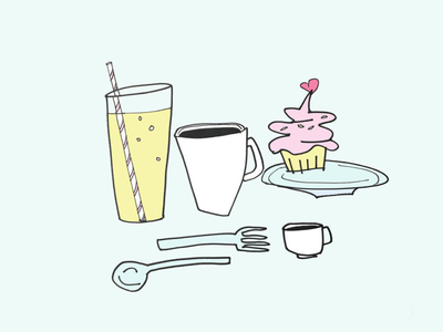 ART EVERY DAY NUMBER 515 / ILLUSTRATION / CUPCAKE DINNER