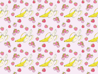 ART EVERY DAY NUMBER 519 / PATTERN / BANANAS & BERRIES