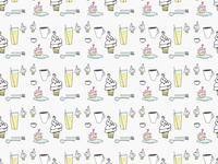 ART EVERY DAY NUMBER 521 / PATTERN / THE CUPCAKE'S RETURN