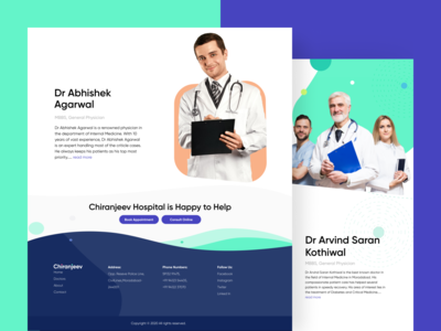 Doctors page website design webdesign uidesign uidesigner homepage design graphicdesign landingpage interface homepage