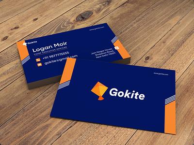 Gokite Business Card visiting card design logos graphic branding branding design brand design graphicdesign business card design businesscard