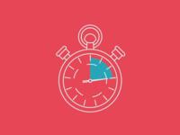 Monoline stopwatch