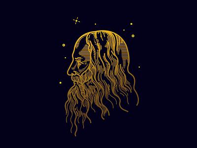 Da Vinci outline outline davinci stylisation vector