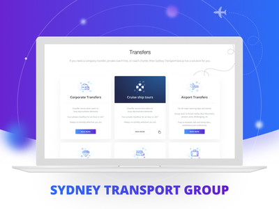 Sydney Transport Group business company clean responsive guide style flat transport website