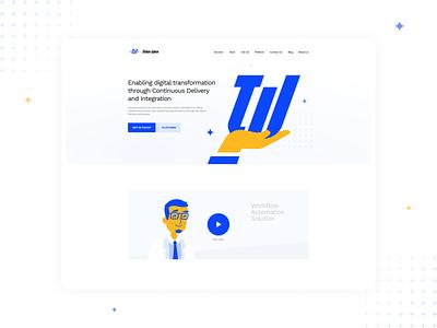 Tinker Ware minimal icon typography branding vector illustration wireframing promo prototype flat business design company responsive ui ux clean website