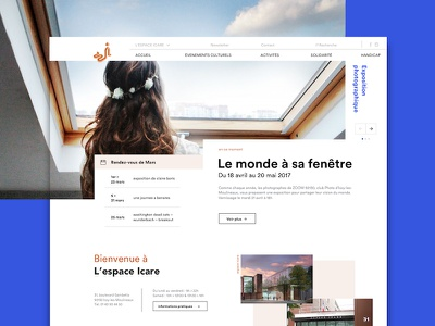 Espace Icare website desktop design icare