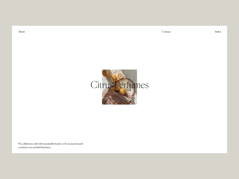 Citrys Perfumes Issue 56 e-commerce typography layout minimaldesign minimal ui webdesign web ux