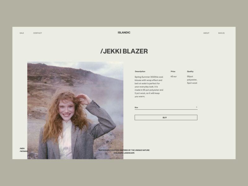Islandic Blazer Issue 59 layout webdesign minimal ui e-commerce ecommence web ux