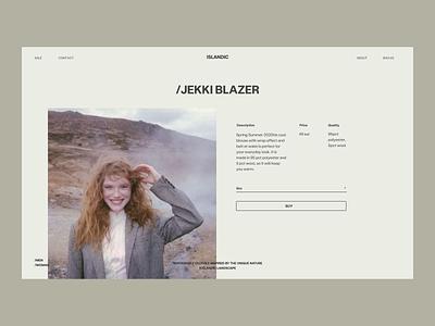 Islandic Blazer Issue 59 layout webdesign minimal ui e-commerce ecommence web ux