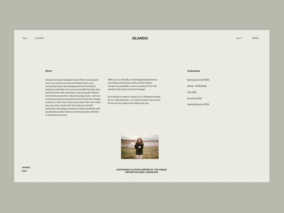 Icelandic About Issue 60 e-commerce layout minimaldesign ui ux web ecommence about minimal webdesign