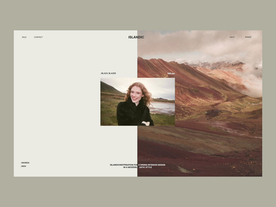 Islandic Issue 61 animation ecommence layout minimal e-commerce minimaldesign webdesign web ux