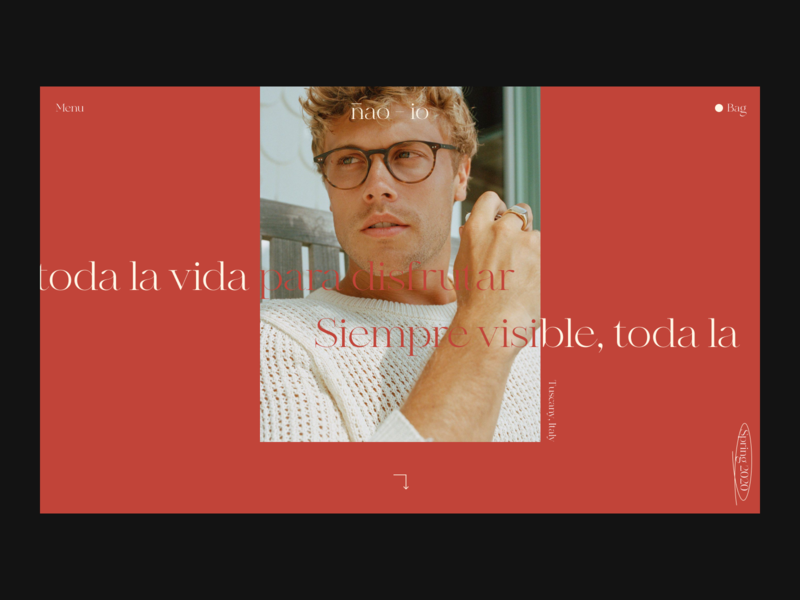 Glasses Issue 64 ecommence ui red minimal e-commerce layout webdesign web ux