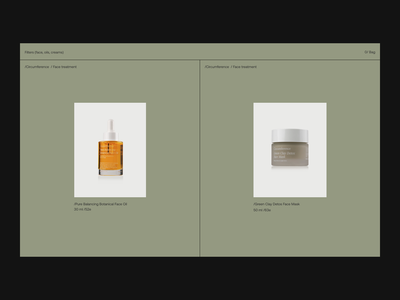 Face treatment Issue 67 minimaldesign ecommence layout e-commerce minimal ui webdesign web ux