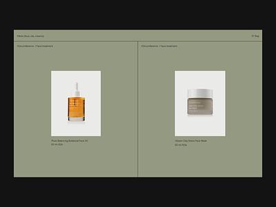 Face treatment Issue 67 minimaldesign ecommence layout e-commerce minimal ui webdesign web ux