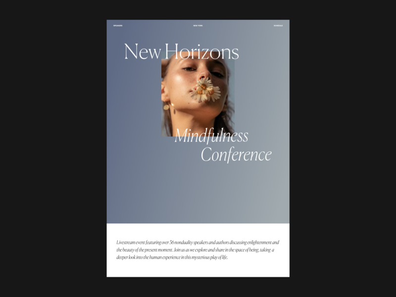 Mindfulness  Issue 74 website ui gradients typography gradient layout webdesign web ux