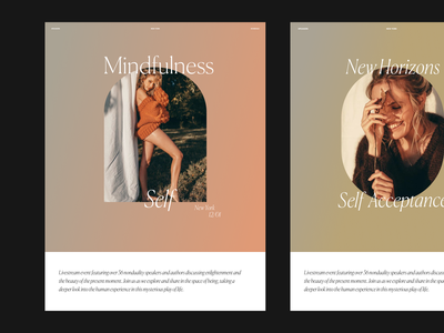 Mindfulness Issue 76 gradients gradient type website design website layout minimaldesign minimal ui webdesign web ux